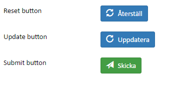 Screenshot of an example of the Action button widgets