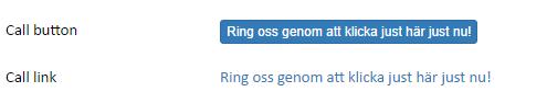 Screenshot of an example of the Call button widget