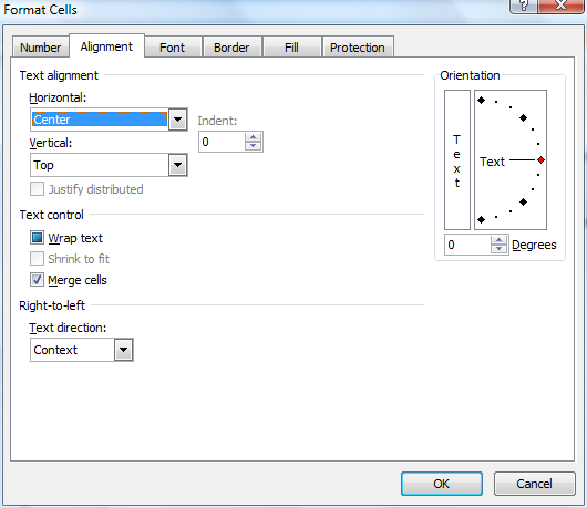 Screenshot of the Format Cells dialog