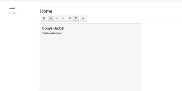 Screenshot of an iframe placeholder in Google Sites