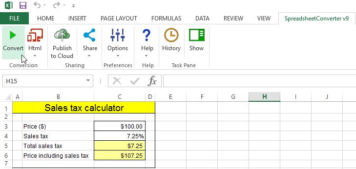 tax excel spreadsheet